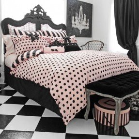 dress-up-your-bedroom-with-the-chic-sophisticated-wake-up-frankie-comforter-and-sham-set-designed-with-warm-down-alternative-fill-this-adorable-bedding-features-a-cotton-cover-with-a-pink-and-black-do