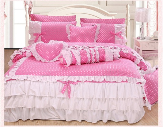home-textile-cute-pink-polka-dot-comforter-sets-elegant-white-lace-falbala-ruffled-bed-set-fashion-jpg_640x640